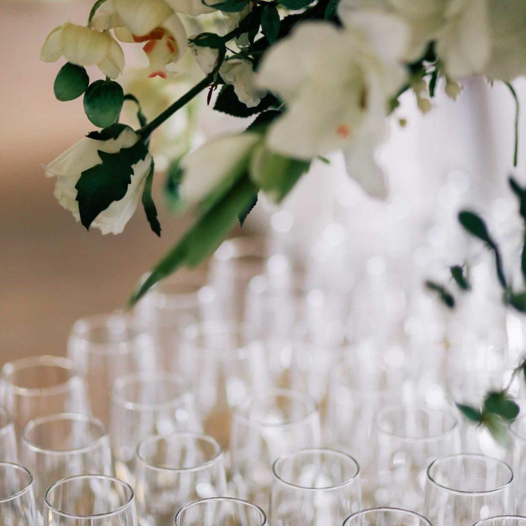 Bryllupsreception, champagnebar på Frændekilde