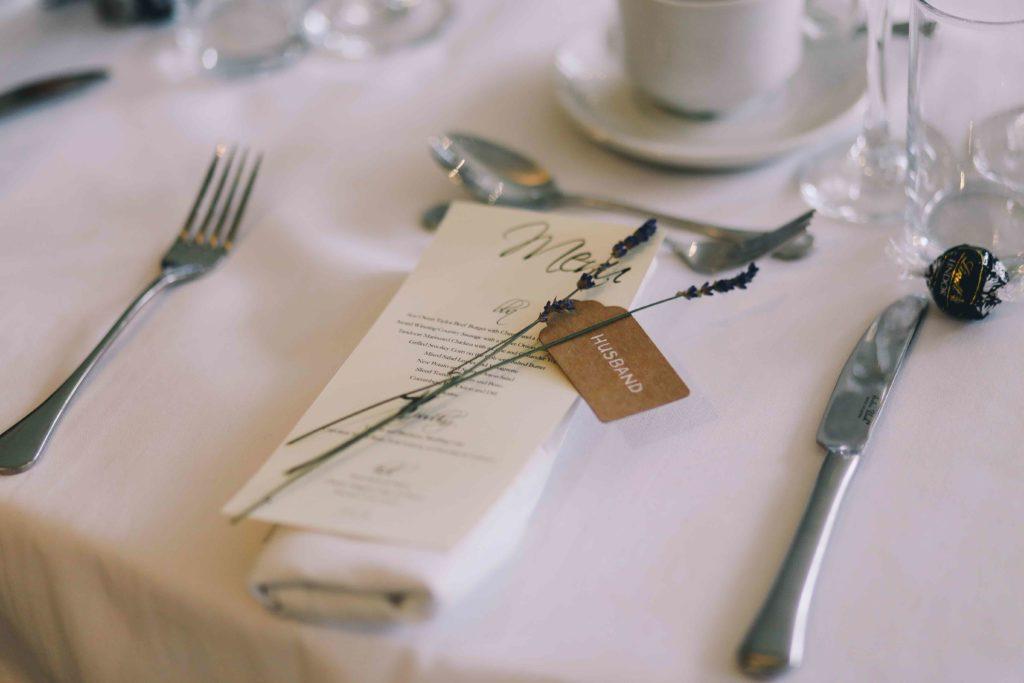 Bryllup, bordopdækning Frændekilde stemning